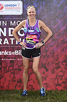 Nell McAndrew<br /> at the start of the London Marathon 2019, Greenwich, London<br /> <br /> ©Ash Knotek  D3496  28/04/2019