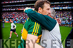 Donnchadh Walsh, Kerry players after defeating Tyrone in the All Ireland Semi Final at Croke Park on Sunday.