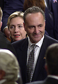 Washington, DC - September 20, 2001 -- The two U.S. Senators from New York, Hillary Rodham Clinton and Chuck Schumer await the arrival of U.S. President George W. Bush at a Joint Session of Congress.  Bush spoke to detail his plan to combat terrorism..Credit: Ron Sachs / CNP