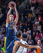 22nd March 2018, Aleksandar Nikolic Hall, Belgrade, Serbia; Turkish Airlines Euroleague Basketball, Crvena Zvezda mts Belgrade versus Fenerbahce Dogus Istanbul; Center Jan Vesely of Fenerbahce Dogus Istanbul shoots for three points