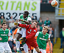 09/05/2010   Copyright  Pic : James Stewart.sct_js019_dundee_utd_v_hibernian  .::   SOL BAMBA TAKES OUT GRAEME SMITH AS HE HEADS CLEAR ::  .James Stewart Photography 19 Carronlea Drive, Falkirk. FK2 8DN      Vat Reg No. 607 6932 25.Telephone      : +44 (0)1324 570291 .Mobile              : +44 (0)7721 416997.E-mail  :  jim@jspa.co.uk.If you require further information then contact Jim Stewart on any of the numbers above.........