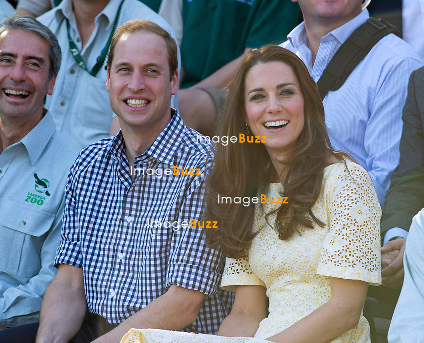KATE, DUCHESS OF CAMBRIDGE AND PRINCE WILLIAM<br /> were in fits of laughter as they watched the birds of prey at the Taronga Zoo in Sydney, Australia.<br /> Sidney, Australia, 20.04.14