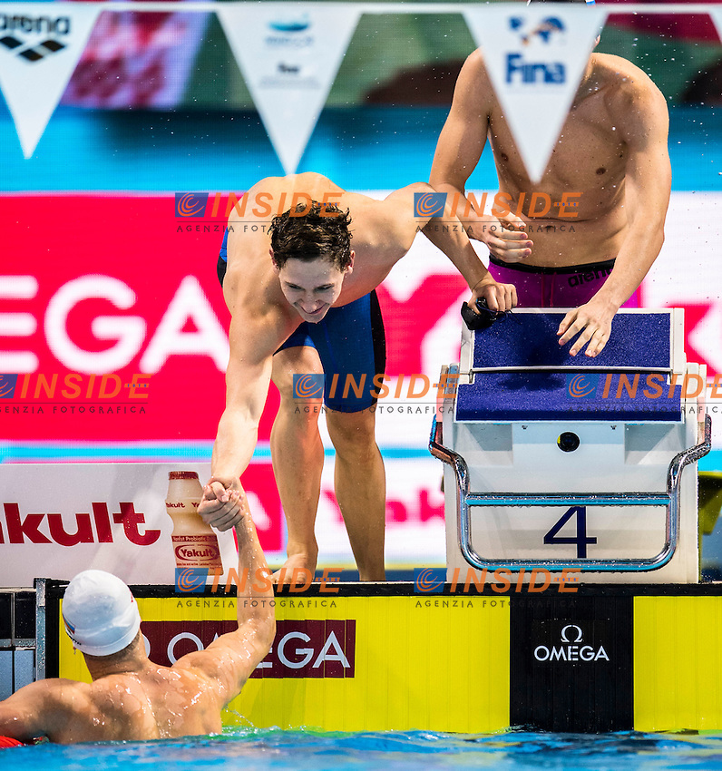 Russia RUS Gold Medal <br /> SHABASOV Andrei PRIGODA Kirill POPKOV Aleksandr <br /> MOROZOV Vladimir<br /> Men's 4x50m Medley Relay<br /> 13th Fina World Swimming Championships 25m <br /> Windsor  Dec. 10th, 2016 - Day05 Final<br /> WFCU Centre - Windsor Ontario Canada CAN <br /> 20161210 WFCU Centre - Windsor Ontario Canada CAN <br /> Photo &copy; Giorgio Scala/Deepbluemedia/Insidefoto