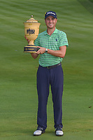 Justin Thomas (USA) and The Gary Player Cup for winning the 2018 World Golf Championships - Bridgestone Invitational, at the Firestone Country Club, Akron, Ohio. 8/5/2018.<br /> Picture: Golffile | Ken Murray<br /> <br /> All photo usage must carry mandatory copyright credit (© Golffile | Ken Murray)