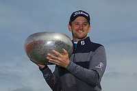 Bernd Wiesberger (AUT) poses with the trophy after the final round of the Made in Denmark presented by Freja, played at Himmerland Golf & Spa Resort, Aalborg, Denmark. 26/05/2019<br /> Picture: Golffile | Phil Inglis<br /> <br /> <br /> All photo usage must carry mandatory copyright credit (© Golffile | Phil Inglis)