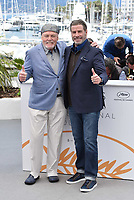 CANNES, FRANCE - MAY 15: Stacy Keach, John Travolta at photocall for 'Rendezvous With John Travolta - Gotti' during the 71st annual Cannes Film Festival at Palais des Festivals on May 15, 2018 in Cannes, France. <br /> CAP/PL<br /> &copy;Phil Loftus/Capital Pictures