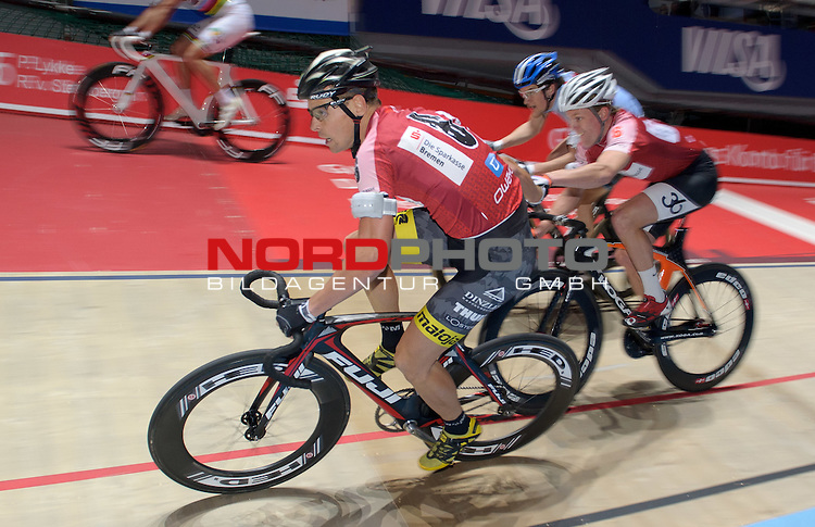 12.01.2015, &Ouml;VB Arena, Bremen, GER, Sixdays Bremen, im Bild Leif Lampater / Wim Stroetinga (Team Sparkasse #6)<br /> <br /> Foto &copy; nordphoto / Frisch