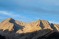 Snowmass Mountain in late evening light from northwest end of Lead King Basin