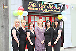 Gillian Smyth, Jennifer Lennon, Yvonne McGrane, Nail Technician, Betty McDonnell, Proprietor, Bridget Murphy and Breda Stanley all from The Cut Above at the Official Launch of the North Quay Retail Event...Picture Jenny Matthews/Newsfile.ie