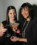 Erika Halter and Adrianna Alzocer at Martini Madness at the Center for Contemporary Craft Thursday Jan. 22,2015.(Dave Rossman For the Chronicle)