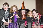 Patricia O'Donoghue, Meagan Roberts, Kerry O'Donoghue, Lucy Andrews and Lily Roberts Knocknagoshel enjoying the Knocknagoshel Halloween celebrations on Sunday night..