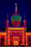 Moorish Palace with onion dome, Tivoli Gardens (Tivoli Amusement Park), Copenhagen, Denmark