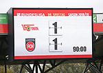 07.10.2018, Stadion an der Wuhlheide, Berlin, GER, 2.FBL, 1.FC UNION BERLIN  VS. 1.FC Heidenheim, <br /> DFL  regulations prohibit any use of photographs as image sequences and/or quasi-video<br /> im Bild Endergebnis, Anzeigetafel<br /> <br /> <br />      <br /> Foto &copy; nordphoto / Engler