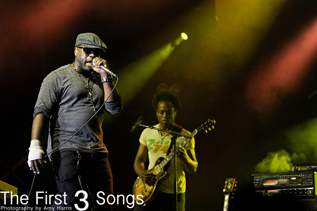 Black Thought (real name Tariq Trotter) of The Roots performs during Day 1 of the Orlando Calling music festival at Citrus Bowl Park in Orlando, Florida on November 12, 2011.