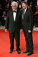 "VENICE, ITALY - SEPTEMBER 07: Paolo Baratta and Dario Franceschini walk the red carpet ahead of the ""The Burnt Orange Heresy"" during the 76th Venice Film Festival at Sala Grande on September 07, 2019 in Venice, Italy. (Photo by Mark Cape/Insidefoto)<br /> Venezia 07/09/2019"