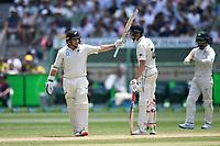28th December 2019; Melbourne Cricket Ground, Melbourne, Victoria, Australia; International Test Cricket, Australia versus New Zealand, Test 2, Day 3; Tom Latham of New Zealand celebrates his half century