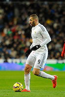Real Madrid´s Karim Benzema during 2014-15 La Liga match between Real Madrid and Sevilla at Santiago Bernabeu stadium in Alcorcon, Madrid, Spain. February 04, 2015. (ALTERPHOTOS/Luis Fernandez) /NORTEphoto.com
