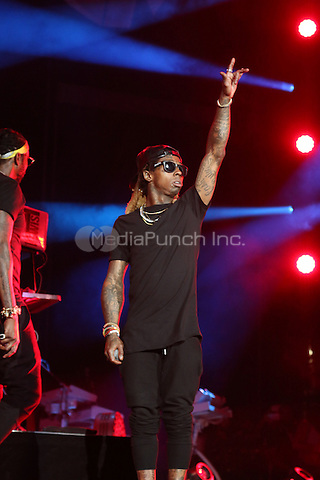 PHILADELPHIA, PA - SEPTEMBER 3: Lil Wayne performing at Jay-Z's Made In America Music Festival at The Benjamin Franklin Parkway in Philadelphia, PA on September 3, 2016. Credit: Walik Goshorn/MediaPunch