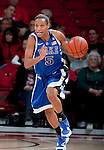 Duke Blue Devils guard Jasmine Thomas (5) handles the ball during an NCAA college women's basketball game against the Wisconsin Badgers during the ACC/Big Ten Challenge at the Kohl Center in Madison, Wisconsin on December 2, 2010. Duke won 59-51. (Photo by David Stluka)
