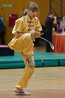 Daria Morzheva performs her routine during the 3rd International Chan Wu, Traditional Kung Fu and Wu Shu Championships in Budapest, Hungary on November 24, 2012. ATTILA VOLGYI