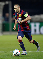 Calcio, finale di Champions League Juventus vs Barcellona all'Olympiastadion di Berlino, 6 giugno 2015.<br /> FC Barcelona's Andres Iniesta in action during the Champions League football final between Juventus Turin and FC Barcelona, at Berlin's Olympiastadion, 6 June 2015. Barcelona won 3-1.<br /> UPDATE IMAGES PRESS/Isabella Bonotto