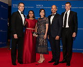 NBC News White House correspondents, left to right, Peter Alexander, Kristen Welker, Hallie Jackson, Ron Allen, and Hans Nichols arrive for the 2019 White House Correspondents Association Annual Dinner at the Washington Hilton Hotel on Saturday, April 27, 2019.<br /> Credit: Ron Sachs / CNP<br /> <br /> (RESTRICTION: NO New York or New Jersey Newspapers or newspapers within a 75 mile radius of New York City)
