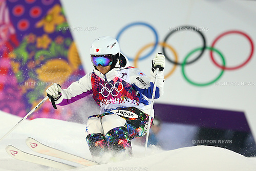 Aiko Uemura (JPN), <br /> FEBRUARY 6, 2014 - Freestyle Skiing : <br /> Women's Moguls Qualification <br /> at &quot;ROSA KHUTOR&quot; Extreme Park <br /> during the Sochi 2014 Olympic Winter Games in Sochi, Russia. <br /> (Photo by Yohei Osada/AFLO SPORT)