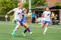 Allston, MA - Sunday July 31, 2016: Natasha Dowie, Camille Levin, Brooke Elby during a regular season National Women's Soccer League (NWSL) match between the Boston Breakers and the Orlando Pride at Jordan Field.