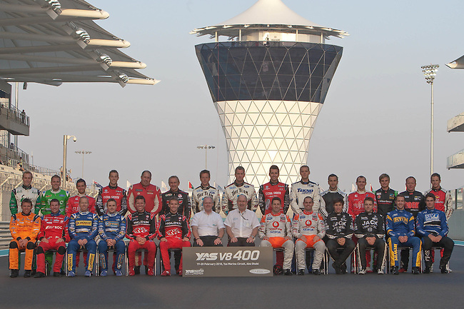 2010 V8 Supercar Driver photo at the inaugural Yas V8 400, Yas Marina Circuit, Abu Dhabi.  <br /> <br /> Etihad fly direct to Abu Dhabi from Melbourne &amp; Sydney