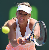 KEY BISCAYNE, FL - MARCH 29: Flavia Pennetta of Italy defeats Victoria Azarenka of Belarus in their third round match during the Miami Open Presented by Itau at Crandon Park Tennis Center on March 29, 2015 in Key Biscayne, Florida<br /> <br /> <br /> People:  Victoria Azarenka<br /> <br /> Transmission Ref:  FLXX<br /> <br /> Must call if interested<br /> Michael Storms<br /> Storms Media Group Inc.<br /> 305-632-3400 - Cell<br /> 305-513-5783 - Fax<br /> MikeStorm@aol.com