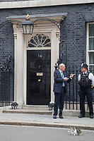 Theresa Mary May British prime minister avoided Question Time in Parliament by instead flying to Brussels for talks with the EU.  It was left to the trusty Downing Street cat to look after affairs and to face any problems. <br /> Larry is the 10 Downing Street cat and is Chief Mouser to the Cabinet Office. He is a brown and white tabby, believed born in January 2007.<br /> London, England on June 11, 2018.<br /> CAP/GOL<br /> &copy;GOL/Capital Pictures