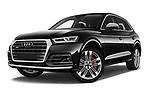 Stock pictures of low aggressive front three quarter view of a 2018 Audi SQ5 Base 5 Door SUV