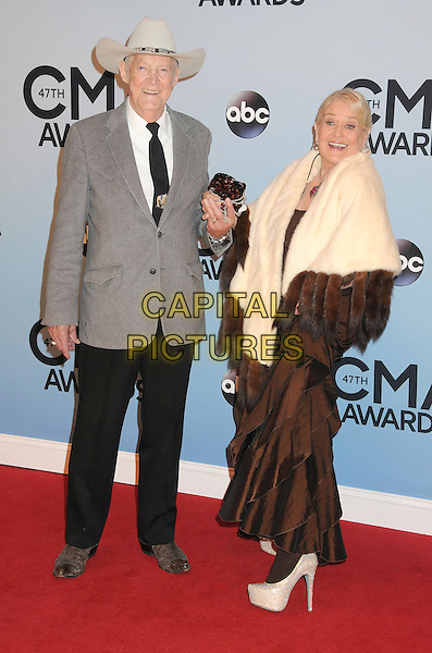 NASHVILLE, TENNESSEE - NOVEMBER 06: guest &amp; Lynn Anderson  at the 47th CMA Awards, Country Music's Biggest Night, held at Bridgestone Arena on November 6th, 2013 in Nashville, Tennessee, USA.<br /> CAP/ADM/BP<br /> &copy;Byron Purvis/AdMedia/Capital Pictures