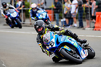 Scott Moir (Taupo) leads race one of the Formula One superbike series. The 2017 Suzuki series Cemetery Circuit motorcycle racing at Cooks Gardens in Wanganui, New Zealand on Tuesday, 27 December 2017. Photo: Dave Lintott / lintottphoto.co.nz
