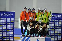 SPEEDSKATING: SALT LAKE CITY: 08-12-2017, Utah Olympic Oval, ISU World Cup, Podium Team Pursuit Ladies, Team Nederland, Team Japan, Team Germany, ©photo Martin de Jong