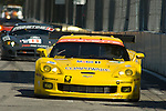 31 August 2007: The Corvette Racing C6.R driven by Jan Magnussen (DNK) and Johnny O' Connell (USA) at the Detroit Sports Car Challenge presented by Bosch, Detroit, MI