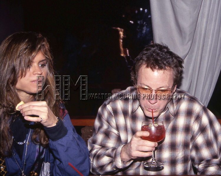 John Heard and girlfriend attend a party on April 15, 1996  in New York City.