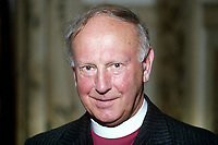 Most Rev Donald Caird, Church of Ireland Bishop of Meath & Kildare. The Church of Ireland is an autonomous province of the Anglican Communion, 19850516DC2.<br /> <br /> Copyright Image from Victor Patterson,<br /> 54 Dorchester Park, <br /> Belfast, UK, BT9 6RJ<br /> <br /> t1: +44 28 9066 1296 (from Rep of Ireland 048 9066 1296)<br /> t2: +44 28 9002 2446 (from Rep of Ireland 048 9002 2446)<br /> <br /> m: +44 7802 353836<br /> <br /> e: victorpatterson@me.com<br /> www.victorpatterson.com<br /> <br /> Please see my Terms and Conditions of Use at www.victorpatterson.com. It is IMPORTANT that you familiarise yourself with them.<br /> <br /> Images used on the Internet must be visibly watermarked i.e. © Victor Patterson<br /> within the body of the image and copyright metadata must not be deleted. Images <br /> used on the Internet have a size restriction of 4kbs and will be chargeable at current<br />  NUJ rates unless agreed otherwise.<br /> <br /> This image is only available for the use of the download recipient i.e. television station, newspaper, magazine, book publisher, etc, and must not be passed on to any third <br /> party. It is also downloaded on condition that each and every usage is notified within 7 days to victorpatterson@me.com<br /> <br /> The right of Victor Patterson to be identified as the author is asserted in accordance with The Copyright Designs And Patents Act (1988). All moral rights are asserted.