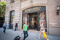 The Denim and Supply brand store of Ralph Lauren in Greenwich Village in New York on Tuesday, June 7, 2016.  Ralph Lauren announced that they will be closing approximately 50 stores and cutting 8 percent of its employee roster in a bid to increase profits amidst decreasing sales. (© Richard B. Levine)