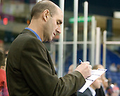 Jerry Forton (Lowell - Assistant Coach) - The visiting Northeastern University Huskies defeated the University of Massachusetts-Lowell River Hawks 3-2 with 14 seconds remaining in overtime on Friday, February 11, 2011, at Tsongas Arena in Lowelll, Massachusetts.