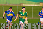 Jason Hickson (Kerry) looks for a player to pass the ball too as Bill Maher (Tipperary) tries to catch him in the Munster GAA - ESB Minor Football Championship Quarter Final 2010 in Austin Stack, Park, Tralee on Wednesday evening.................................................................. ........