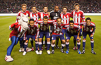 CD Chivas USA starting eleven. Sporting KC defeated CD Chivas USA 3-2 at Home Depot Center stadium in Carson, California on Saturday March 19, 2011...