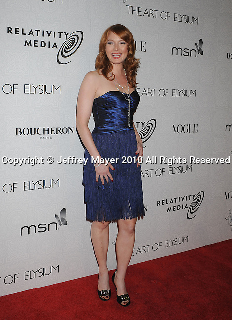 "BEVERLY HILLS, CA. - January 16: Alicia Witt arrives at The Art of Elysium's 3rd Annual Black Tie Charity Gala ""Heaven"" on January 16, 2010 in Beverly Hills, California."