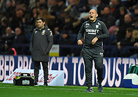 Preston North End's Manager Alex Neil Shouts to his team during the game<br /> <br /> Photographer Dave Howarth/CameraSport<br /> <br /> The EFL Sky Bet Championship - Preston North End v Leeds United - Tuesday 22nd October 2019 - Deepdale Stadium - Preston<br /> <br /> World Copyright © 2019 CameraSport. All rights reserved. 43 Linden Ave. Countesthorpe. Leicester. England. LE8 5PG - Tel: +44 (0) 116 277 4147 - admin@camerasport.com - www.camerasport.com