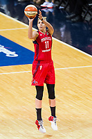 Washington, DC - Sept 17, 2017: Washington Mystics guard Elena Delle Donne (11) hits a wide open jump shot during playoff game between the Mystics and Lynx at the Verizon Center in Washington, DC. (Photo by Phil Peters/Media Images International)