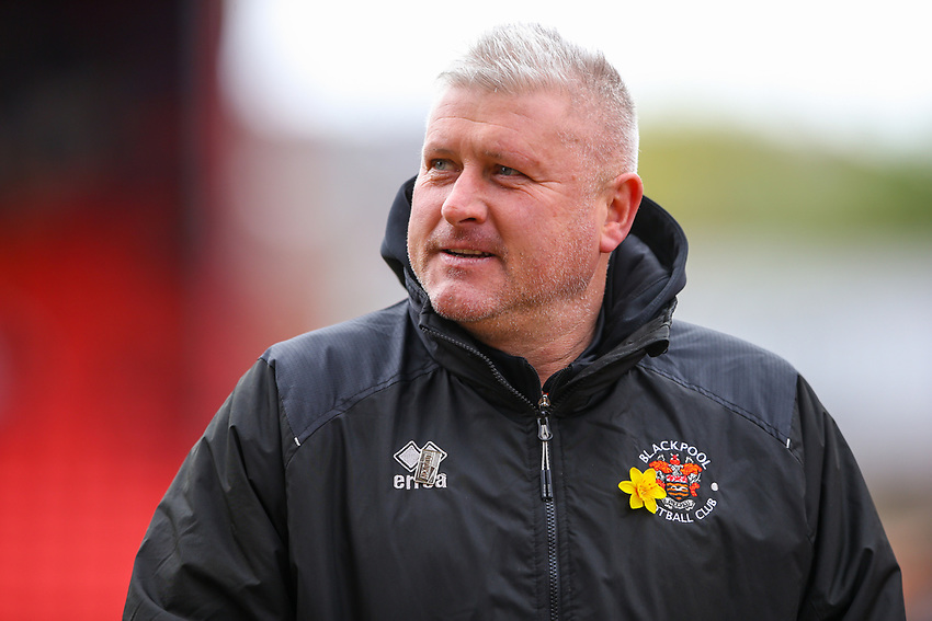 Blackpool's manager Terry McPhillips<br /> <br /> Photographer Alex Dodd/CameraSport<br /> <br /> The EFL Sky Bet League One - Barnsley v Blackpool - Saturday 27th April 2019 - Oakwell - Barnsley<br /> <br /> World Copyright © 2019 CameraSport. All rights reserved. 43 Linden Ave. Countesthorpe. Leicester. England. LE8 5PG - Tel: +44 (0) 116 277 4147 - admin@camerasport.com - www.camerasport.com