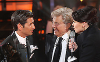 Ollie Locke, Emma Willis, Lionel Blair at Celebrity Big Brother 2014 - Contestants Enter The House, Borehamwood. 03/01/2014 Picture by: Henry Harris / Featureflash