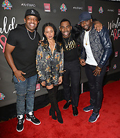 LOS ANGELES, CA- NOV. 30: DJ Mal-Ski, Rhyon Brown, MAJOR, Harmony Samuels at the 30th Anniversary AIDS Healthcare Foundation Concert at the Shrine Auditorium in Los Angeles on November 30, 2017 Credit: Koi Sojer/Snap'N U Photos/Media Punch