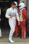 10.05.2014 Barcelona, Spain. F1 Spanish Grand Prix. Picture show Lewis Hamilton (GBR) Mercedes AMG Petronas F1 Team poleman at Circuit de Barcelona-Catalunya
