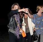AbilityFilms@yahoo.com.805 427 3519 .www.AbilityFilms.com..April 5th 2012..Jessica Alba leaving Matsuhisa restaurant  in Los Angeles wearing a long purple scarf orange purse smiling laughing hugging friends